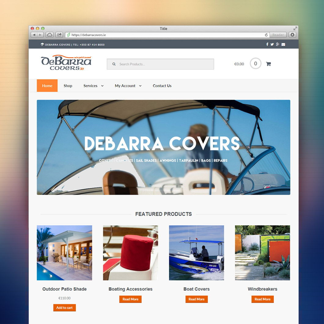 Debarra Covers Landing Page